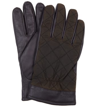 Men's Barbour Dalegarth Gloves - Olive / Brown