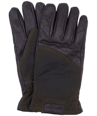 Men's Barbour Hebden Leather Gloves - Dark Brown