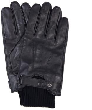 Men's Barbour Wilkin Leather Gloves - Black