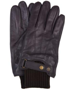 Men's Barbour Wilkin Leather Gloves - Dark Brown