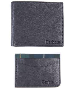 Men's Barbour Wallet & Cardholder Gift Set - Black
