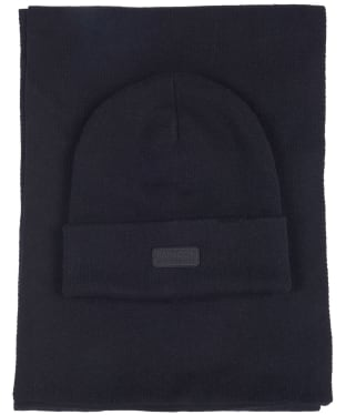 Men's Barbour International Sensor Beanie & Scarf Giftset - Black
