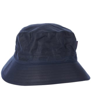 Men's Barbour Waxed Sports Hat - Navy / Seaweed