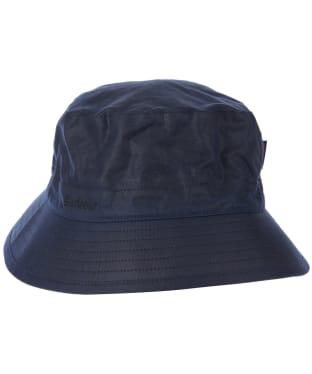 Men's Barbour Waxed Sports Hat - Navy / Seaweed