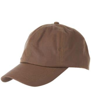Men's Barbour Waxed Sports Cap - Brown