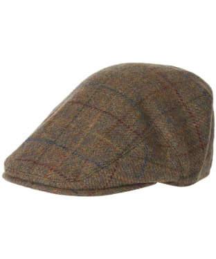 Men's Barbour Wool Crieff Flat Cap - Brown / Red / Blue