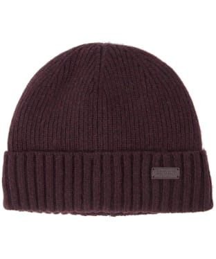 Men's Barbour Carlton Beanie Hat - Merlot
