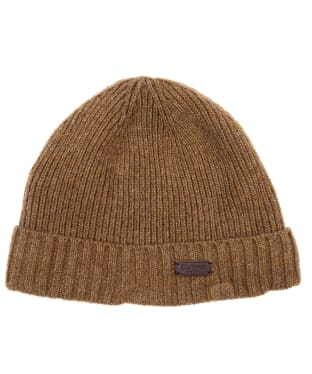 Men's Barbour Carlton Beanie Hat - Sandstone