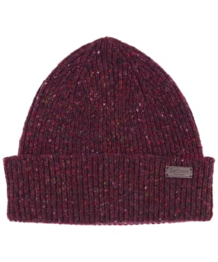Men's Barbour Lowerfell Donegal Beanie Hat - Merlot
