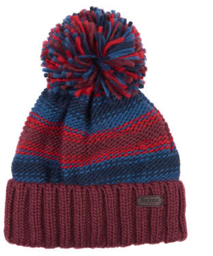 Men's Barbour Harrow Stripe Beanie - Ruby