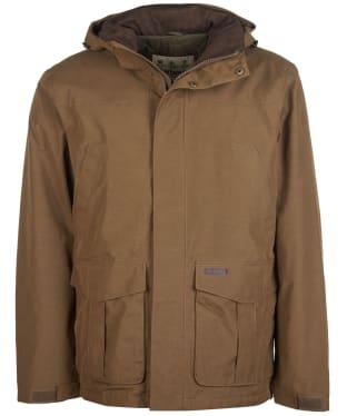 Men's Barbour Brockstone Waterproof Jacket - Dark Sand