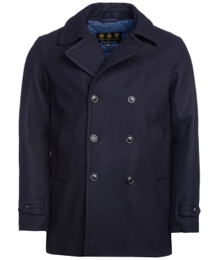 Men's Barbour Denbigh Wool Jacket - Navy