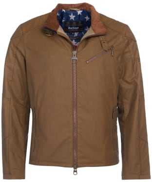 Men's Barbour International Steve McQueen Placer Waxed Jacket - Sand