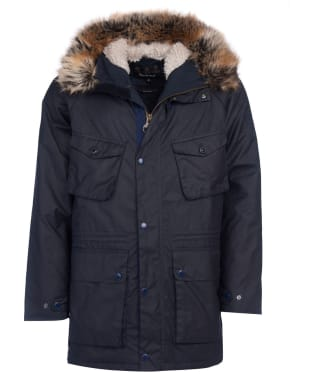 Men's Barbour International Steve McQueen Newport Waxed Jacket - Navy