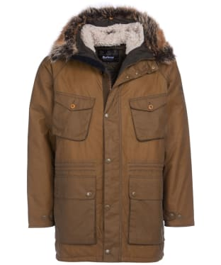 Men's Barbour International Steve McQueen Newport Waxed Jacket - Sand
