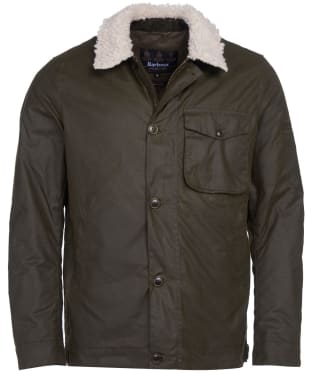 Men's Barbour International Steve McQueen Agusta Waxed Jacket - Archive Olive