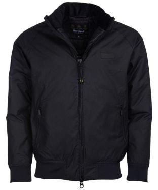 Men's Barbour International Westway Waxed Jacket - Black