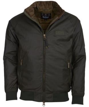 Men's Barbour International Westway Waxed Jacket - Fern