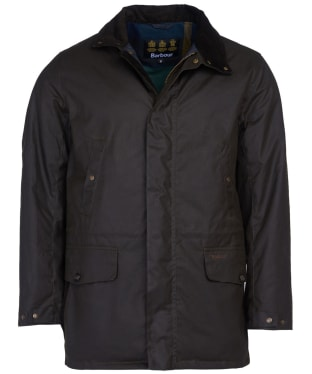 Men's Barbour Hafden Waxed Jacket - Olive