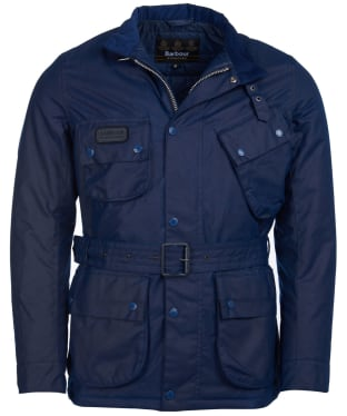 Men's Barbour International Coloured SL International Waxed Jacket - Regal Blue