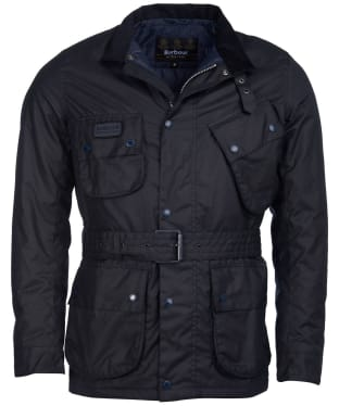 Men's Barbour International Coloured SL International Waxed Jacket - Navy