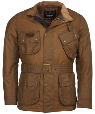 Men's Barbour International Coloured SL International Waxed Jacket - Sand