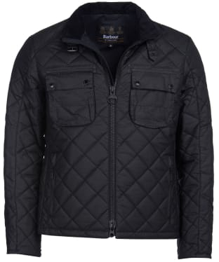 Men's Barbour International Peel Waxed Jacket - Black