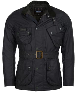 Men's Barbour International Coloured SL International Waxed Jacket - Sage