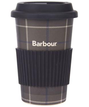Barbour Tartan Travel Mug - Monochrome Tartan