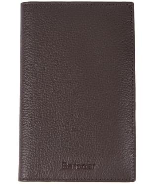 Barbour Kilnsey Leather Passport Cover - Dark Brown