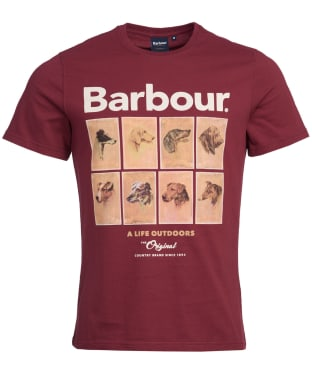 Men's Barbour Hounds Graphic Tee - Ruby