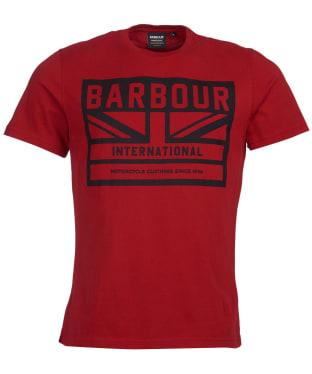 Men's Barbour International Flag Tee - Crimson