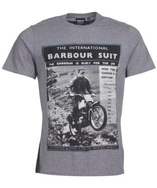 Men's Barbour International Heritage Tee - Anthracite Marl