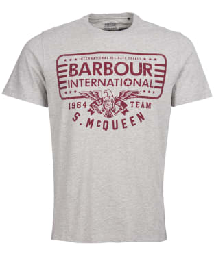 Men's Barbour International Steve McQueen Eagle Tee - Grey Marl