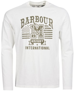 Men's Barbour International Steve McQueen L/S Tanner Tee - Whisper White