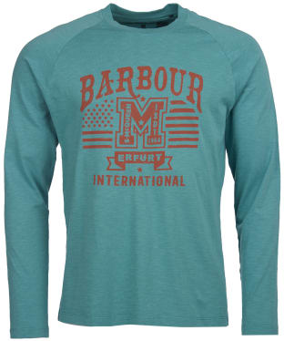 Men's Barbour International Steve McQueen L/S Tanner Tee - Dusty Teal