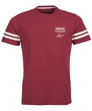 Men's Barbour International Steve McQueen Double Stripe Tee - Cordovan