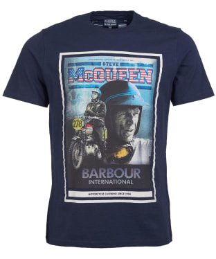 Men's Barbour International Steve McQueen Boon Tee - Navy