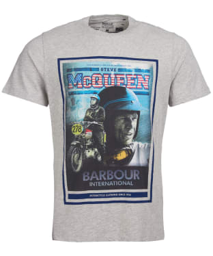 Men's Barbour International Steve McQueen Boon Tee - Grey Marl