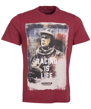 Men's Barbour International Steve McQueen Racing is Life Tee - Cordovan