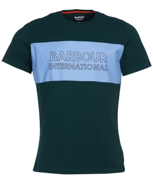 Men's Barbour International Panel Logo Tee - Seaweed