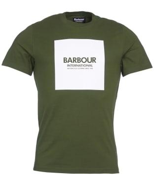 Men's Barbour International Block Tee - Strong Olive