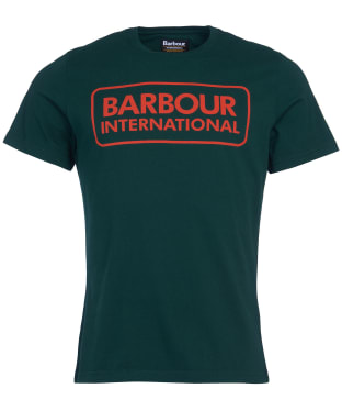 Men's Barbour International Essential Large Logo Tee - Seaweed