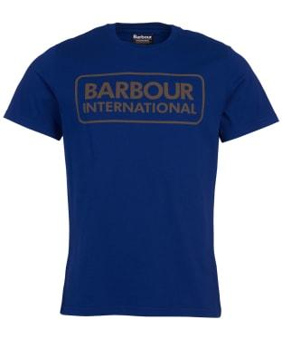 Men's Barbour International Essential Large Logo Tee - Strong Blue