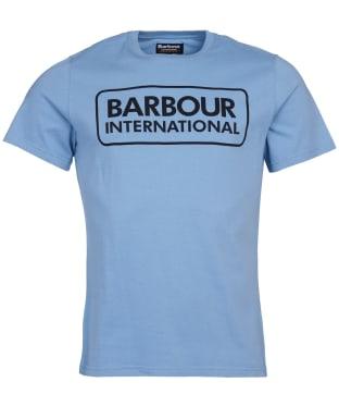 Men's Barbour International Essential Large Logo Tee - Powder Blue