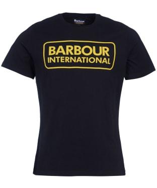 Men's Barbour International Essential Large Logo Tee - Black / Yellow