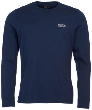 Men's Barbour International Long Sleeve Logo Tee - International Navy