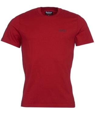 Men's Barbour International Small Logo Tee - Crimson