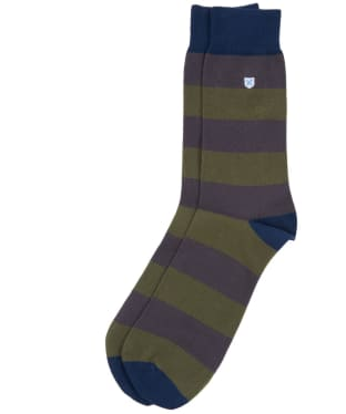 Men's Barbour Oxton Socks - Olive / Grey
