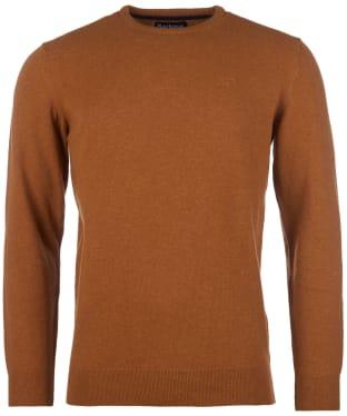 Men's Barbour Essential Lambswool Crew Neck Sweater - Dark Copper
